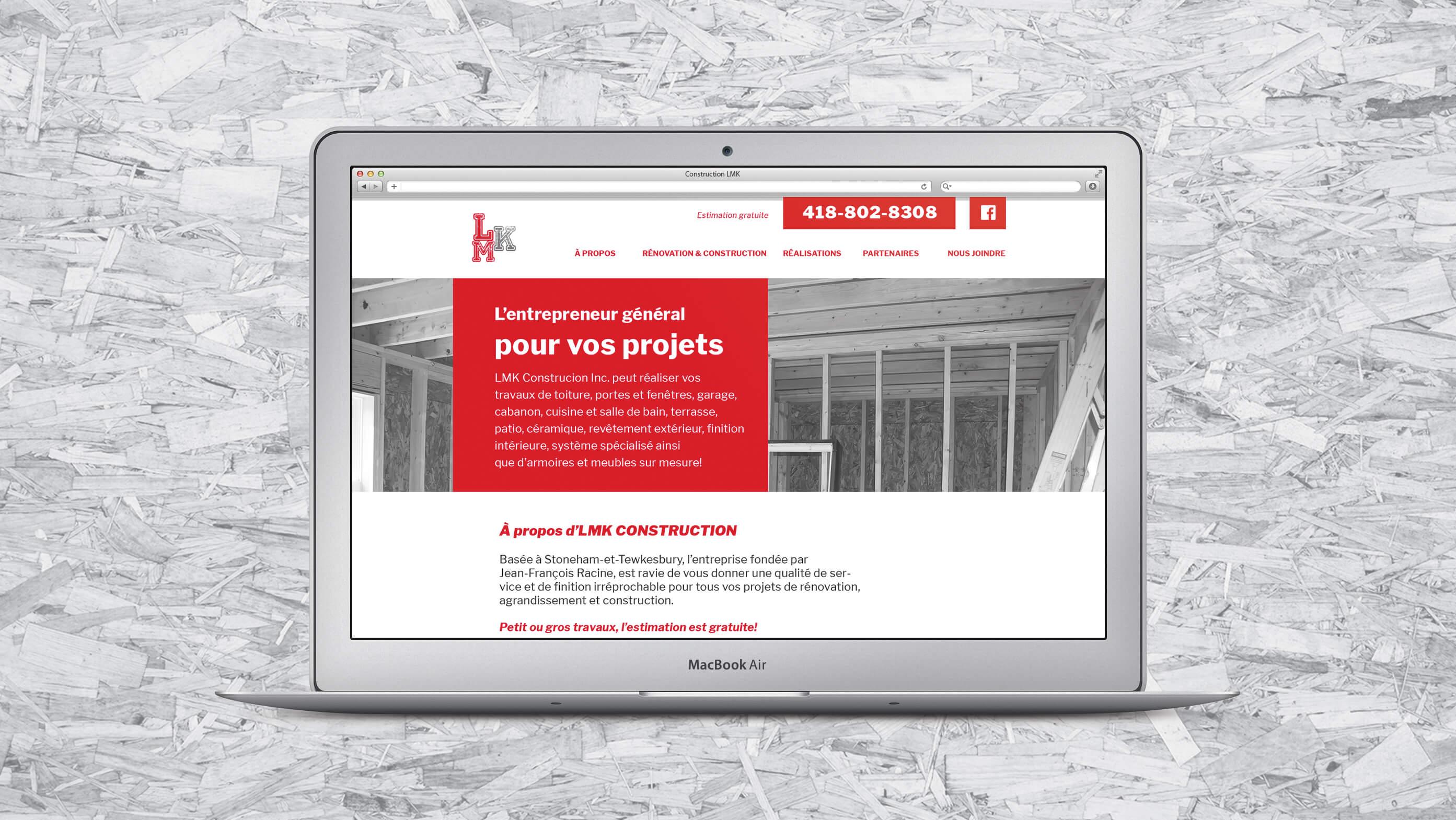 Conception Web LMK Construction